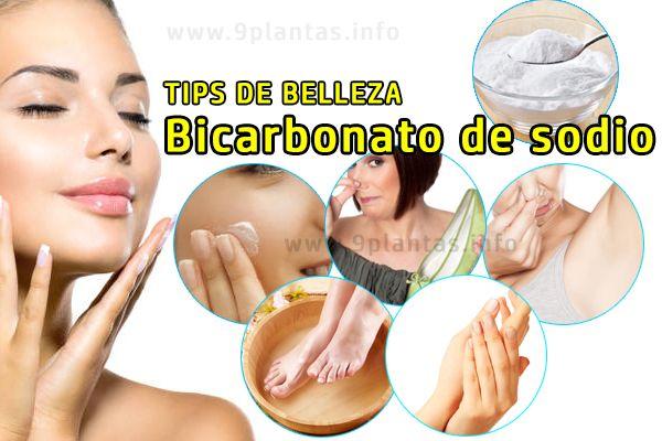 Bicarbonato de sodio tips de belleza, sudoración, mal olor, exfoliante, cabello