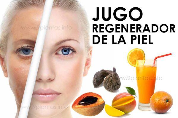 Jugo regenerador de la piel, frutos y mandarina