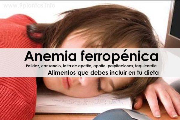 Anemia ferropénica, alimentos que debes incluir en tu dieta
