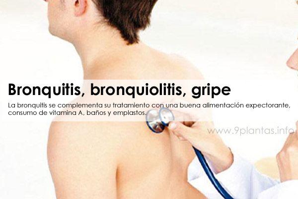 Bronquitis, bronquiolitis, gripe, problemas respiratorios