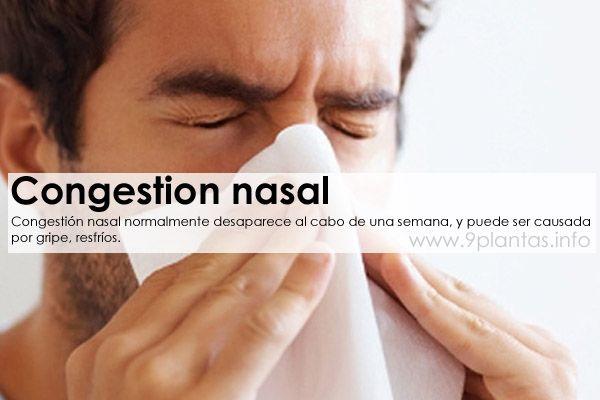 Congestión nasal remedios descongestionantes
