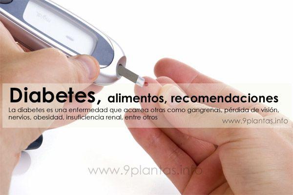 Diabetes, alimentos, recomendaciones