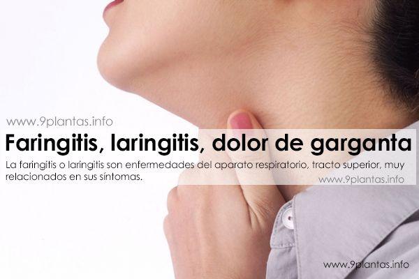 Faringitis, laringitis, dolor de garganta