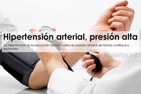 Hipertension arterial, presion alta