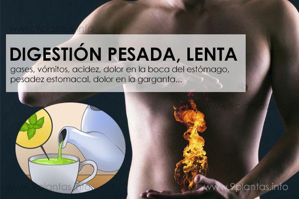 Indigestión, digestión pesada, digestión lenta