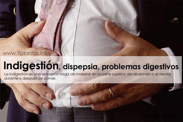 Indigestión, dispepsia, problemas digestivos