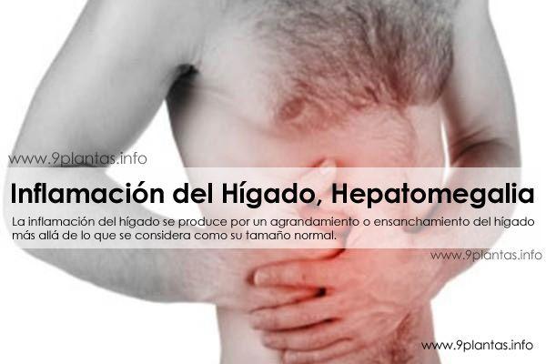 Inflamación del Hígado, Hepatomegalia