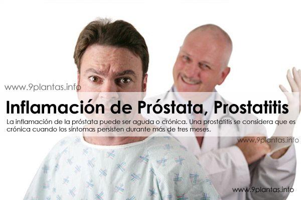 Inflamación de la Próstata, Prostatitis
