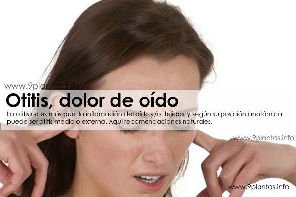 Otitis, dolor de oido