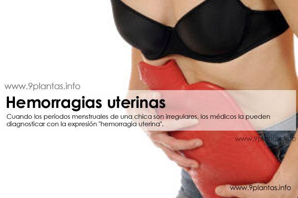 Problemas hormonales, hemorragias uterinas