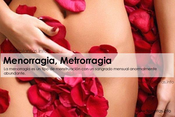 Problemas hormonales, menorragia, metrorragia, menstruacion abundante