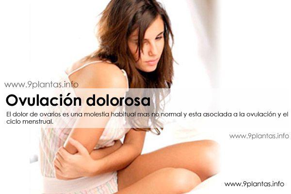 Problemas hormonales, ovulacion con dolor