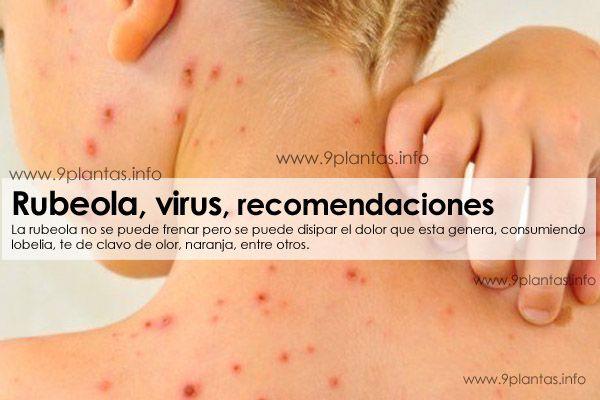 Rubeola, virus, recomendaciones