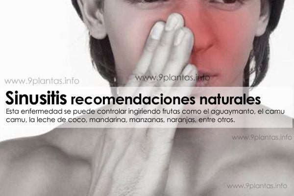Sinusitis recomendaciones naturales