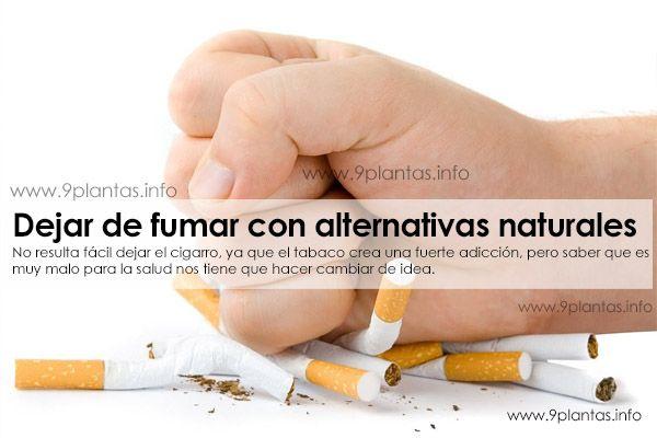 Tabaquismo, fumadores, como dejar de fumar con alternativas naturales