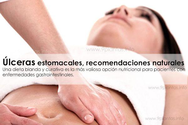 Úlceras estomacales, recomendaciones naturales