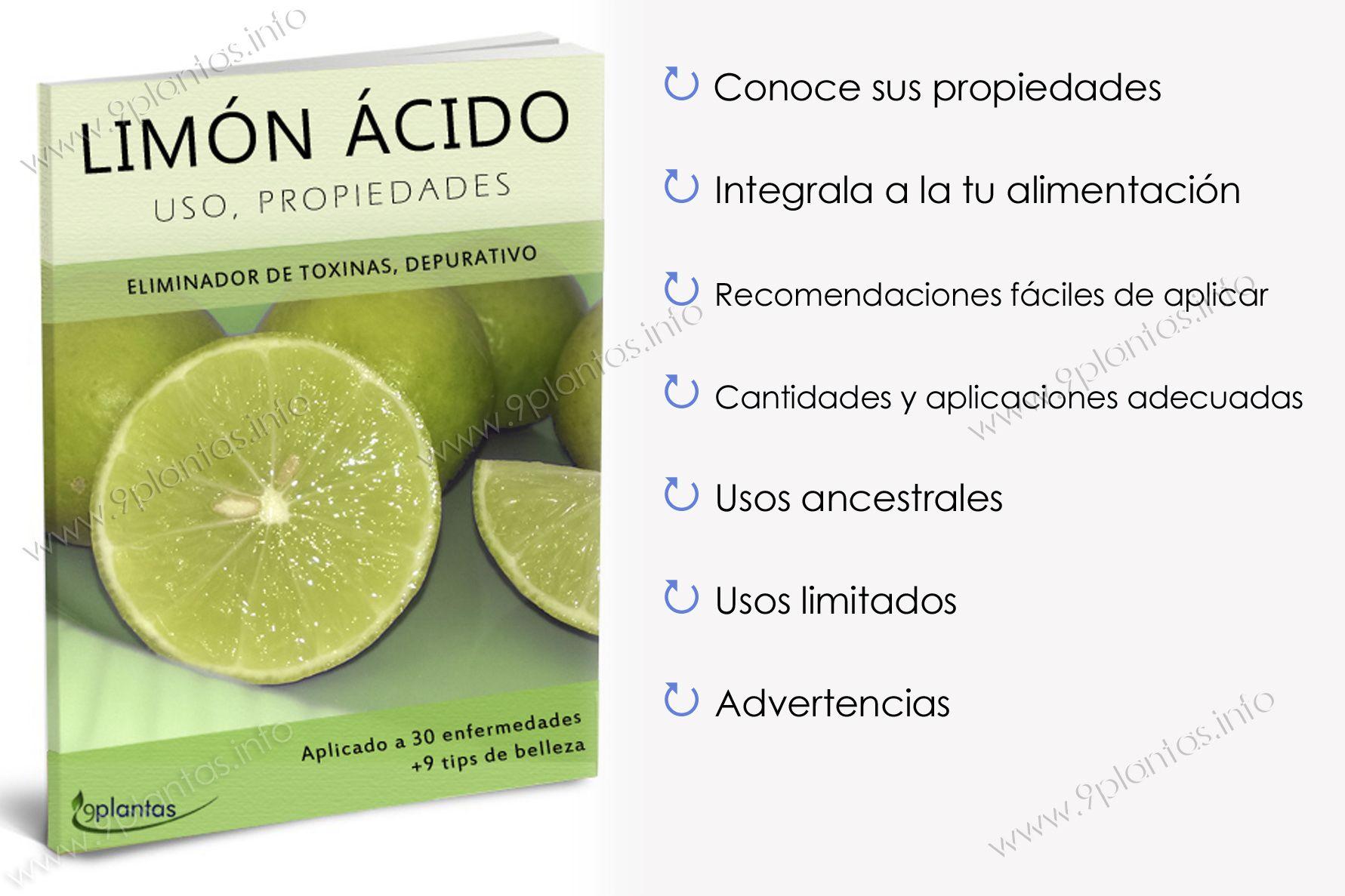 E-book | Limón Ácido, Aplicado en 30 Enfermedades