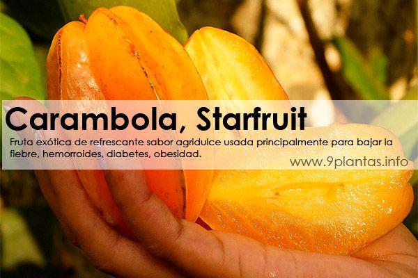 Carambola, fruta estrella, star fruit, tamarindo dulce