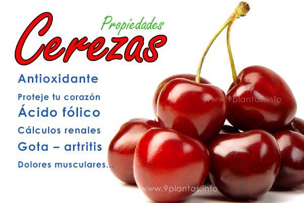 Cerezas (cherries) una gran fruta llena de antioxidantes