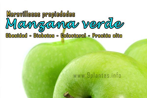 Manzana verde, maravillosas propiedades