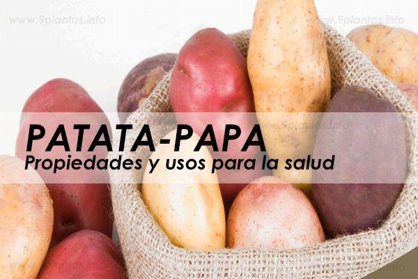 Papa, patata propiedades para la salud