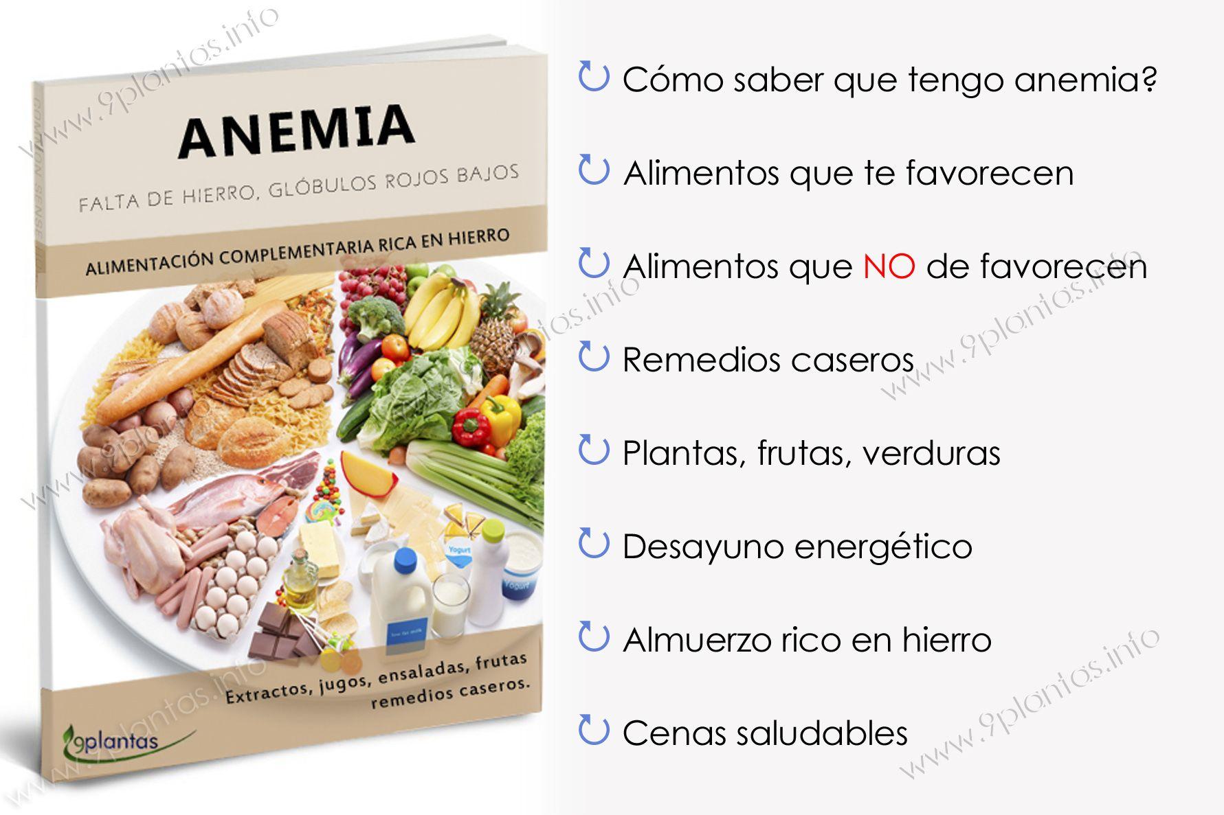 E-book | anemia, falta de hierro, disminución de glóbulos rojos