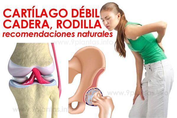 Cartílago débil, cadera y rodilla, recomendaciones naturales