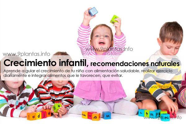 Crecimiento infantil, recomendaciones naturales