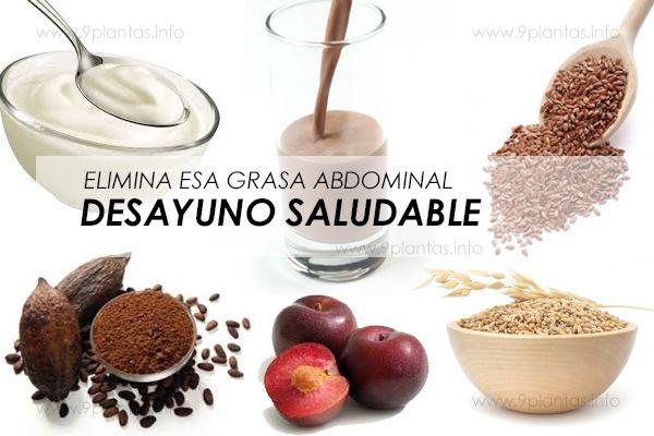 Desayuno para eliminar grasa del vientre