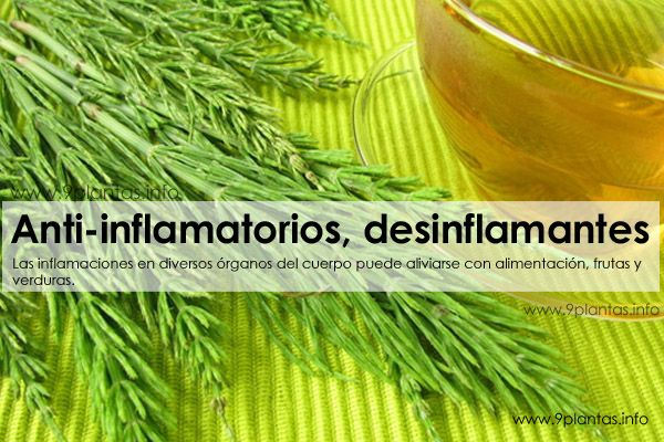 Anti-inflamatorios, desinflamantes