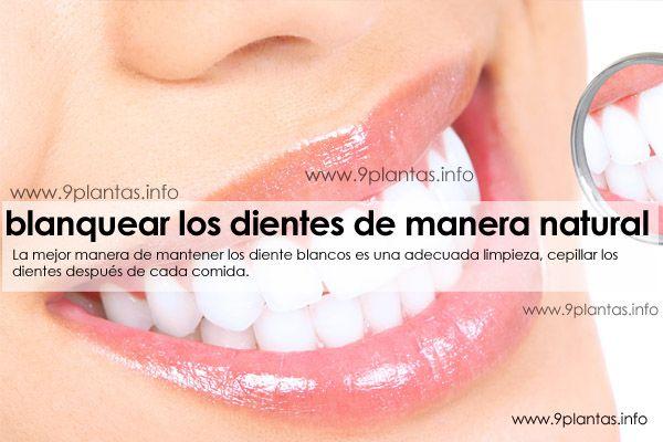 Dientes, como blanquear los dientes de manera natural
