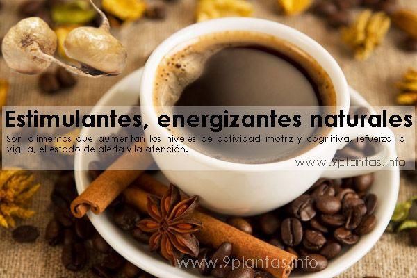 Estimulantes, energizantes naturales