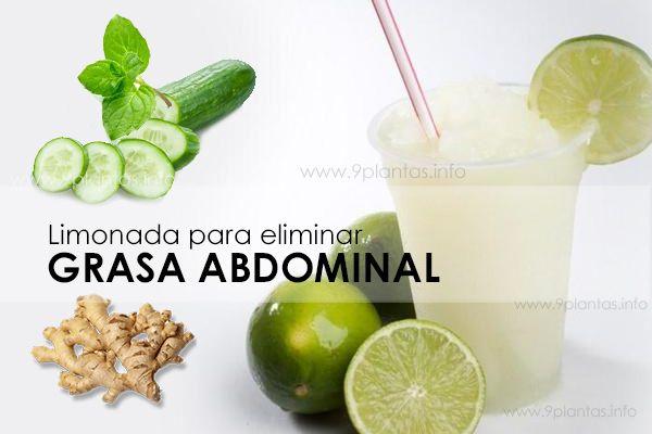 Obesidad, elimina grasa abdominal con limón, pepino, jengibre y menta