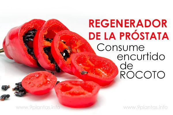Encurtido de rocoto, regenerador de la próstata