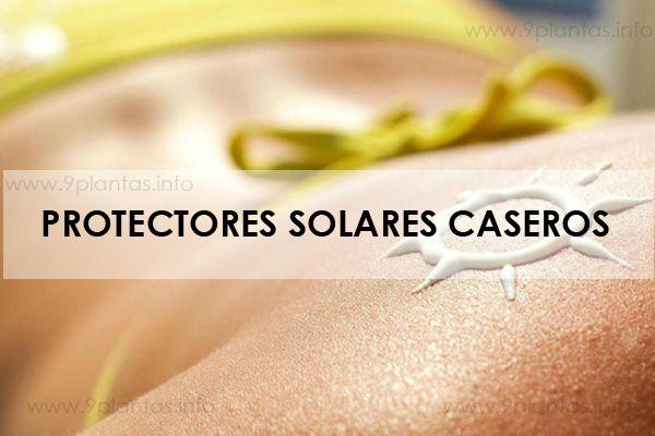 Protectores solares caseros para la piel