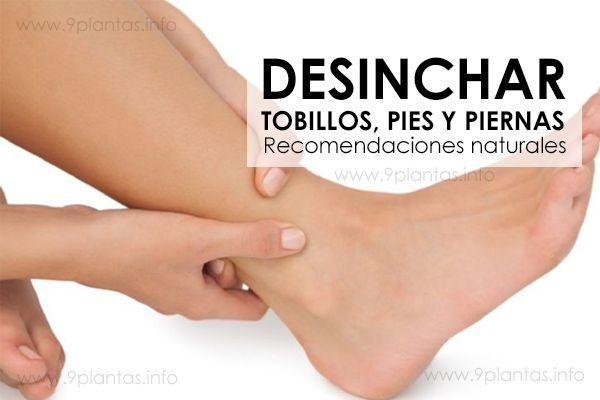 Remedios naturales para deshinchar tobillos, pies y piernas