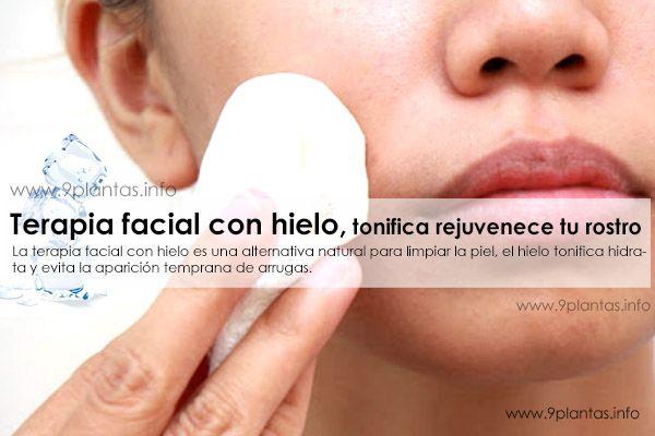 Terapia facial con hielo, tonifica rejuvenece tu rostro